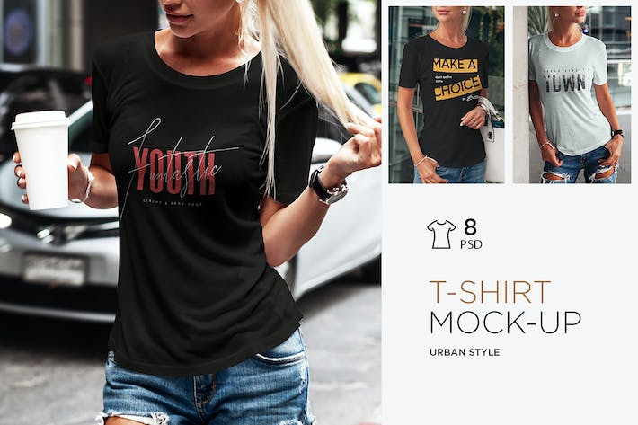 Thumbnail for T-Shirt Mock-Up Urban Style