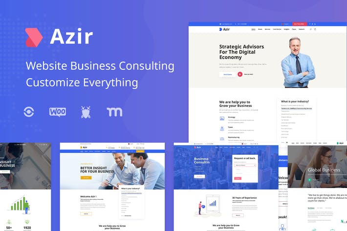 Cover Image For Azir | Consulting Finance Sketch App Tempate