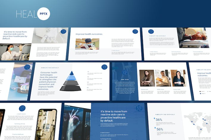 Thumbnail for Heal - Medic Theme Powerpoint Template