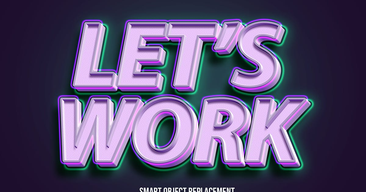 Download 3d strong bold with glow text effect by wudelmbois