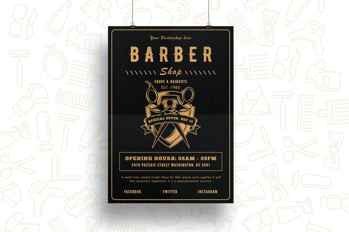 Thumbnail for Barber Shop Flyer-04