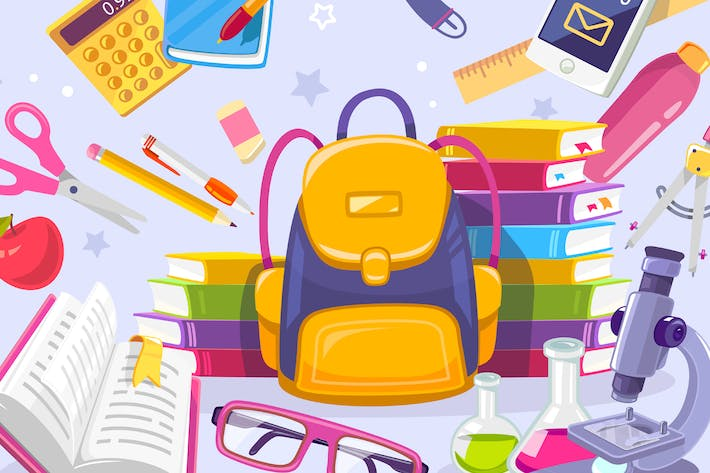 Thumbnail for Collection of back to school illustrations