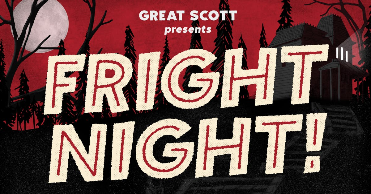 Download Fright Night - Vintage horror font! by dafeld