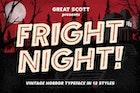 Fright Night - Vintage horror font!