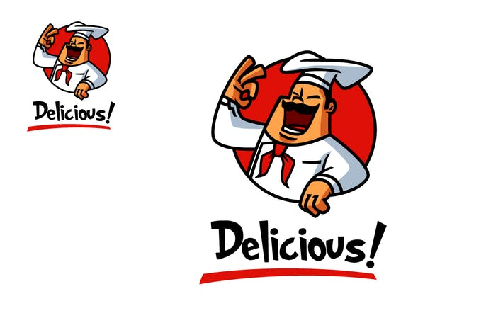 Cover Image For Chef Mascot - Cook Character Logo Design