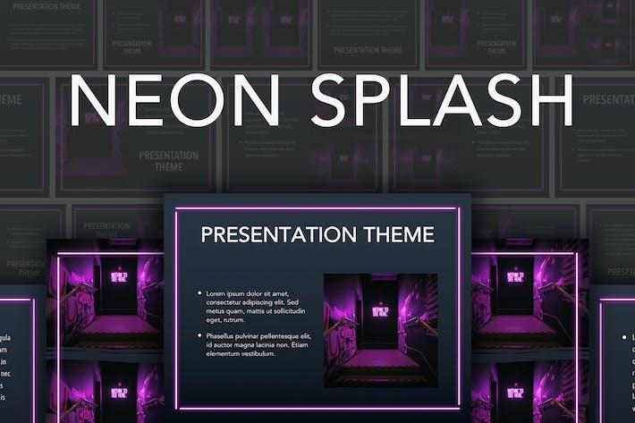 Thumbnail for Neon Splash Google Slides Template