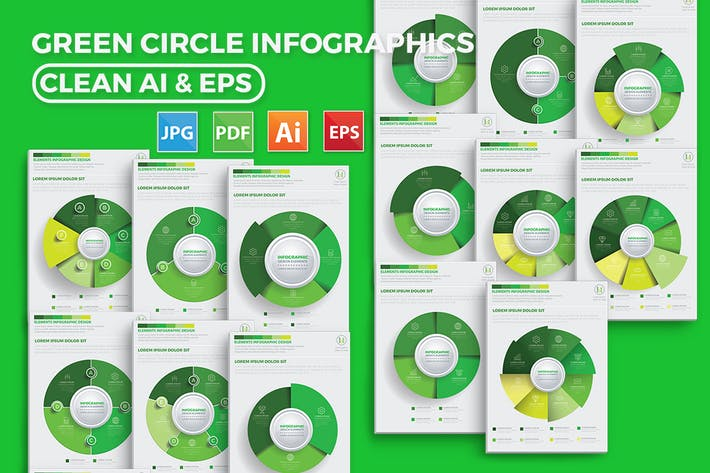 Thumbnail for Diseño infográfico de círculo verde
