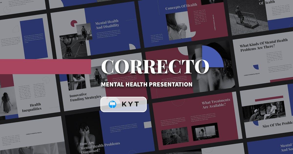 Download CORRECTO - Mental Health Keynote Template by inipagi