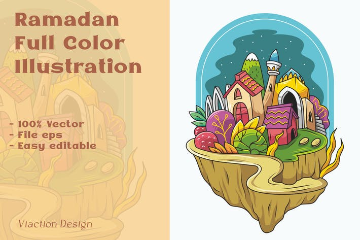 DV - Ramadan Full Color Illustration