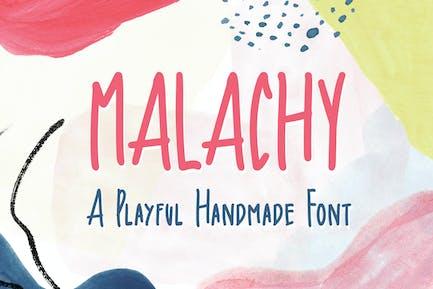Malachy - A Playful Handmade Font