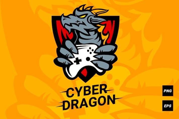 Cyber dragon logotype