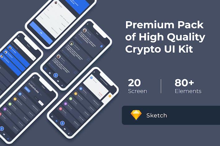 Thumbnail for Crypto Mobile UI KIT for Sketch
