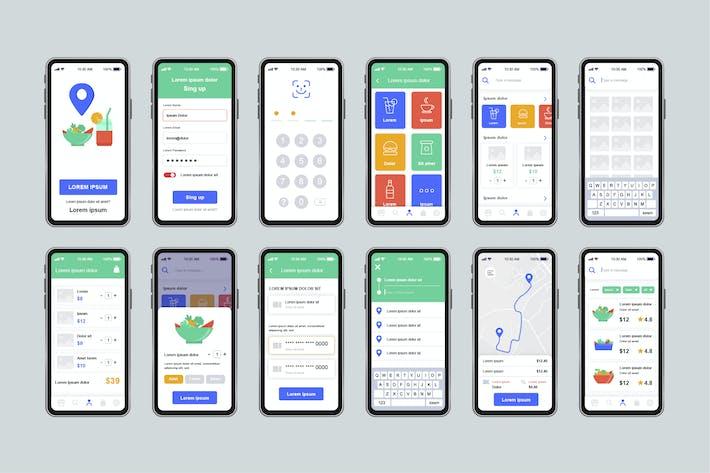 Thumbnail for Delivery Food Unique Mobile App UI Kit