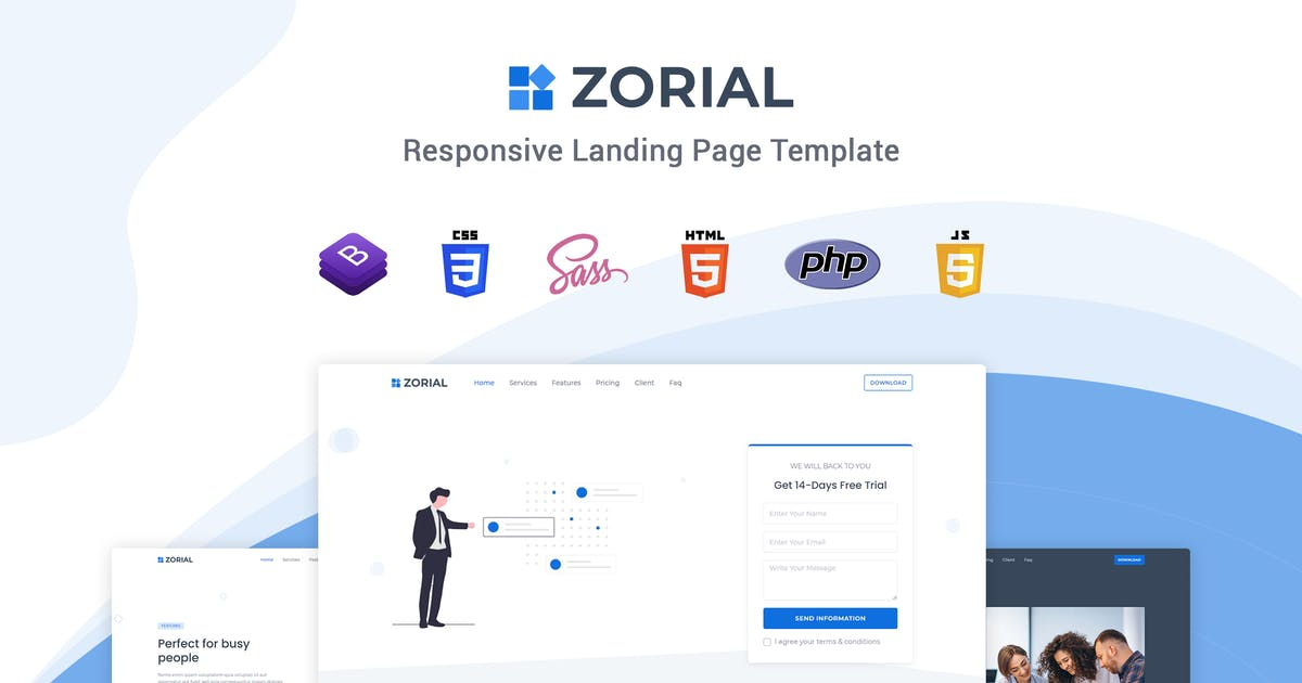 Download Zorial - Landing Page Template by themesdesign