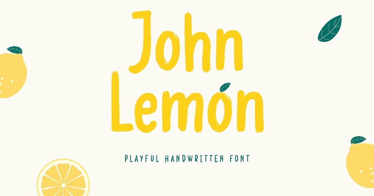 Download John Lemon - Playful Handwritten Font by HamzStudio