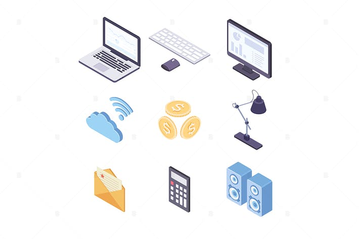 Thumbnail for Business and technology - vector objects