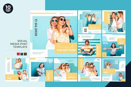Millenials Fashion Social Media Kit PSD & AI
