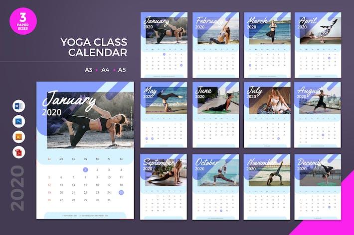 Thumbnail for Yoga Class Calendar 2020 Calendar - AI, DOC, PSD