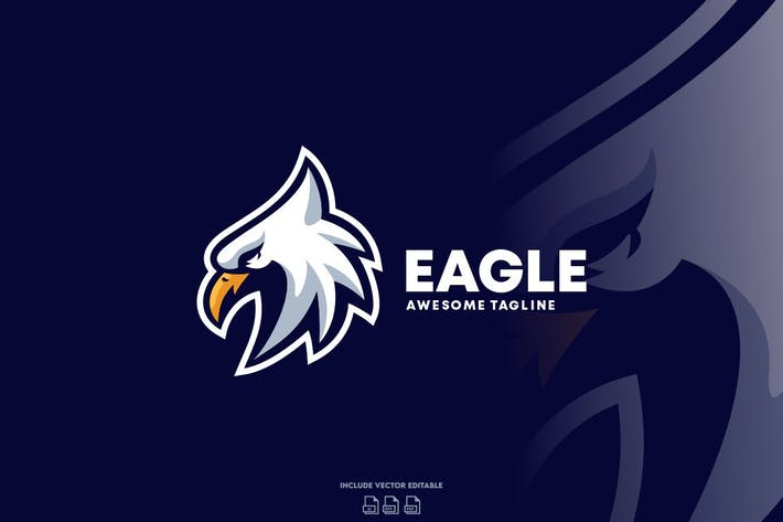 Thumbnail for Eagle Strong Logo Design Template