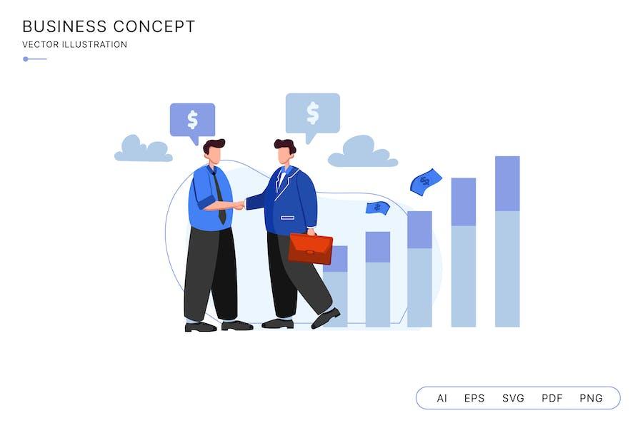 Business Partner Dealing Project Illustration