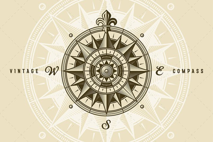 Thumbnail for Vintage Nautical Medieval Wind Rose