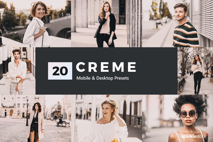 Thumbnail for 20 Creme Lightroom Presets & LUTs
