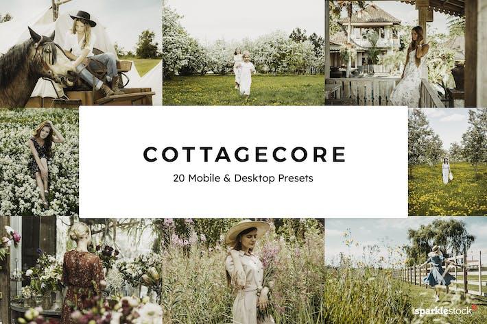Thumbnail for 20 Cottagecore Lightroom Presets & LUTs