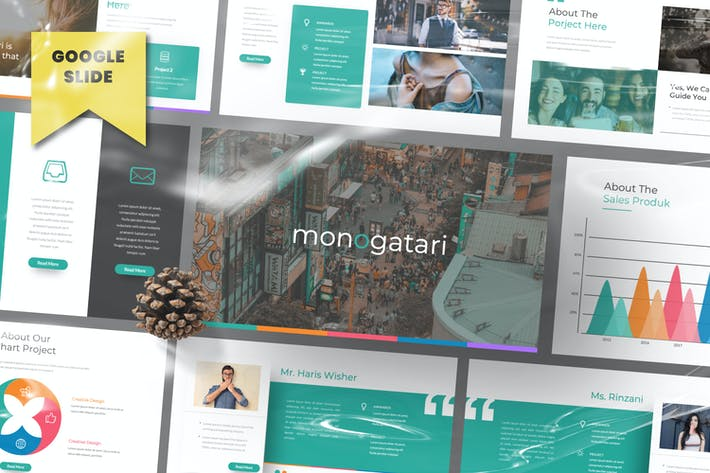 Thumbnail for Monogatari Pitch Deck Google Slide Template