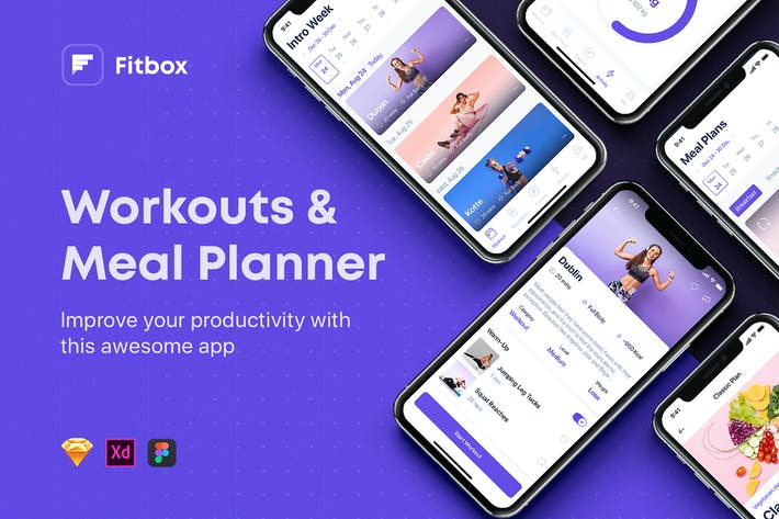 Thumbnail for Fitbox - Workouts & Meal Planner UI Kit