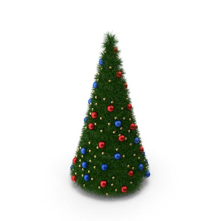 Christmas Tree with Multicolor Balls