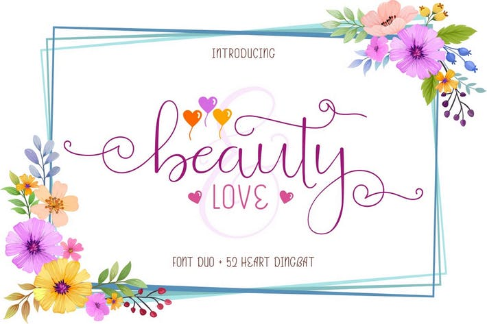 Thumbnail for Beauty and Love - Font Duo + Extra
