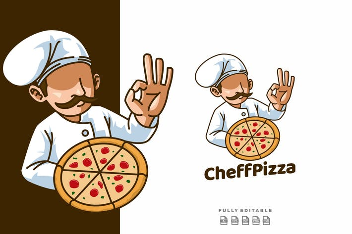 Thumbnail for Mascotte Papa Pizza Rétro