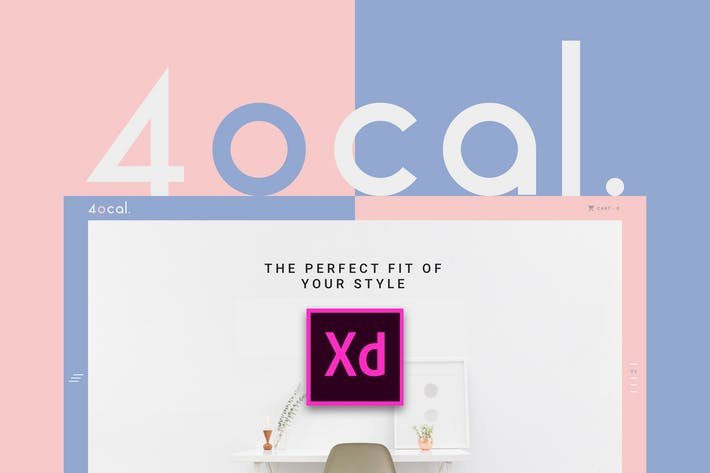 Thumbnail for 4ocal UI Kit for Adobe XD