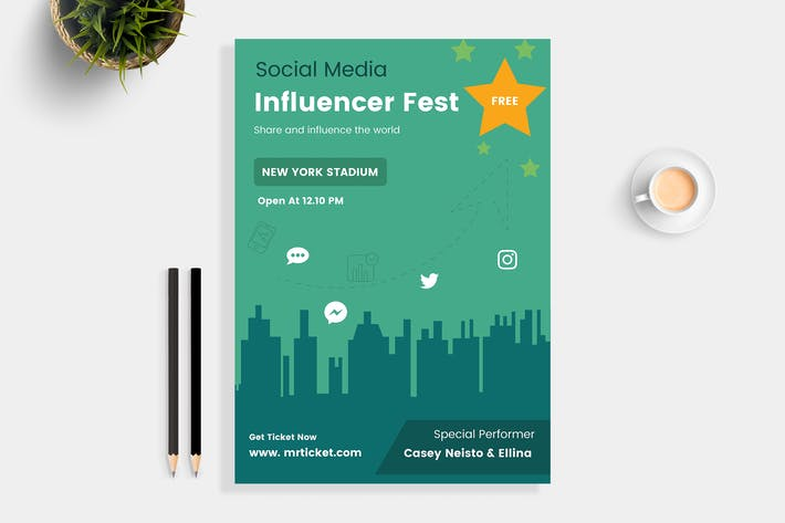 Thumbnail for Influencer Social Media Flyer