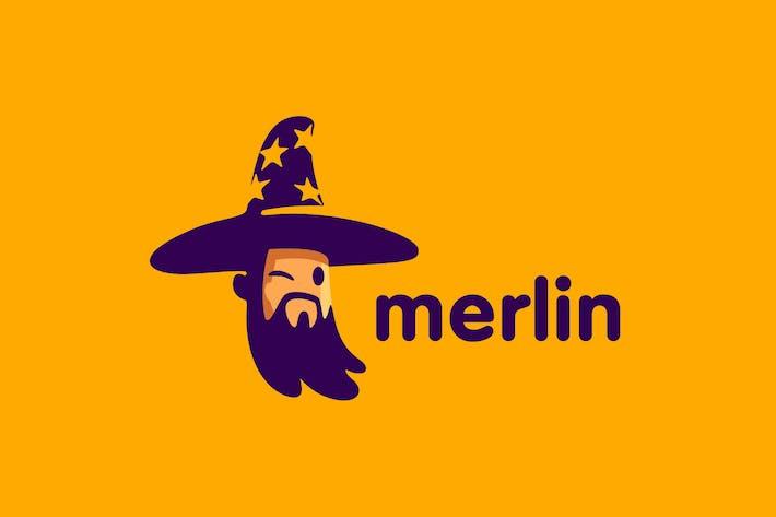Thumbnail for Merlin - Cartoon Wizard Character Mascot Logo