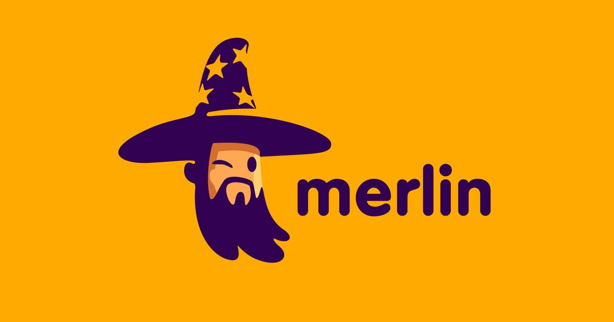 Download Merlin - Cartoon Wizard Character Mascot Logo by Suhandi
