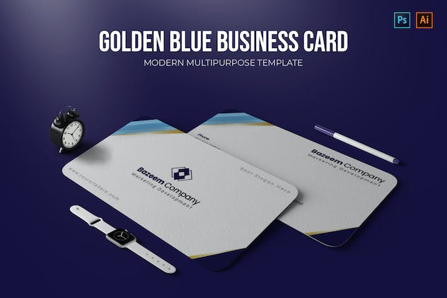 Golden Blues - Business Card