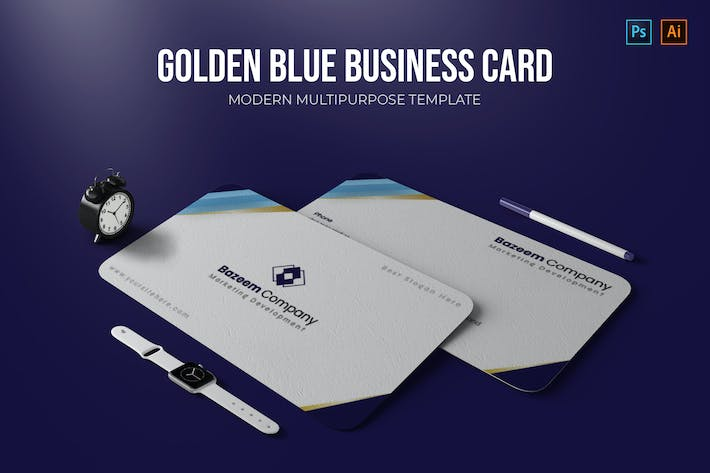 Thumbnail for Golden Blues - Business Card