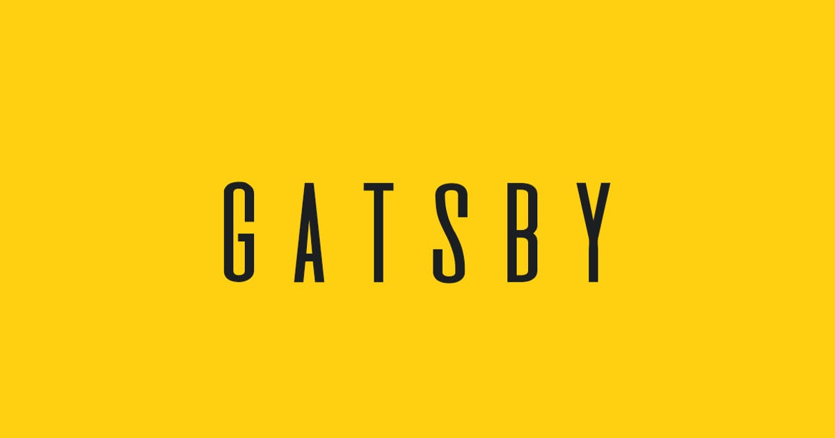 Download GATSBY - Unique Display / Headline Typeface by designova