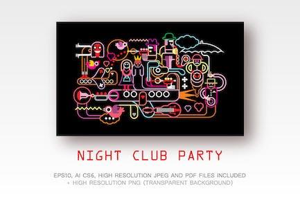 Night Club Party vector illustration