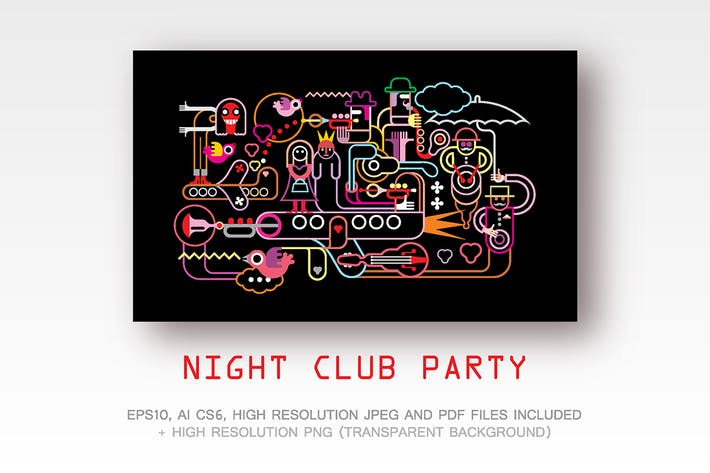 Thumbnail for Night Club Party vector illustration
