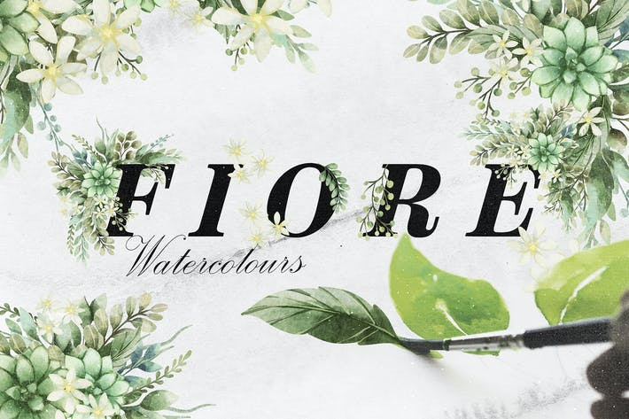 Thumbnail for Fiore Watercolor Floral Elements