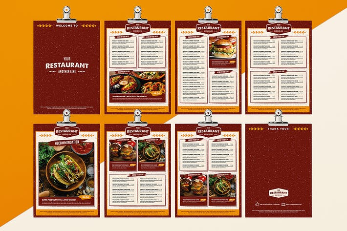 Thumbnail for Rustic Food menu Illustrator Template