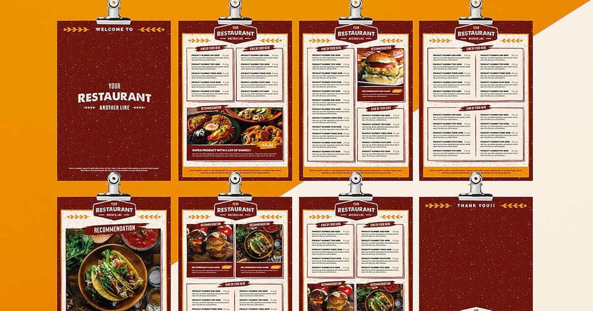 Download Rustic Food menu Illustrator Template by luuqas