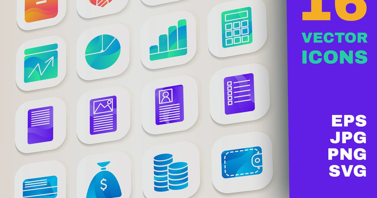 Download Gradient Business Icons Set by barsrsind