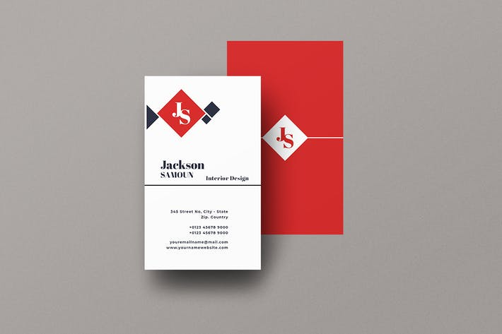 Vertical Business Card Home Interior Vol. 4