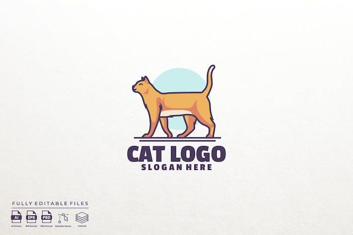 Cat logo template