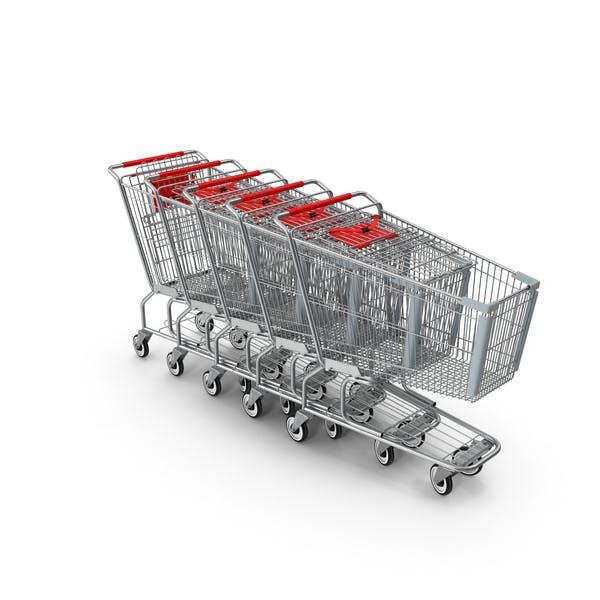 Thumbnail for Metal Shopping Carts Red Row