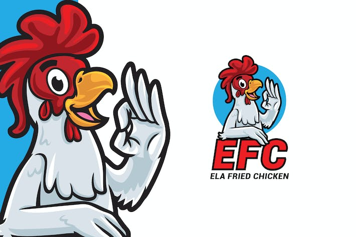 Thumbnail for Ela Fried Chicken Logo Mascot Template