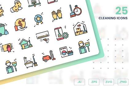 Conjunto de Íconos de limpieza